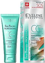 Perfumería y cosmética CC crema facial hidratante para pieles sensibles - Eveline Cosmetics Therapy