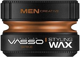 Perfumería y cosmética Cera para cabello de fijación fuerte con aroma amaderado y a cardamomo - Vasso Professional Hair Styling Wax Spike