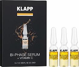 Perfumería y cosmética Tratamiento facial bifásico en ampollas para pieles cansadas con vitamina C, aceite de almendras y jojoba - Klapp Bi-Phase Serum Vitamin C