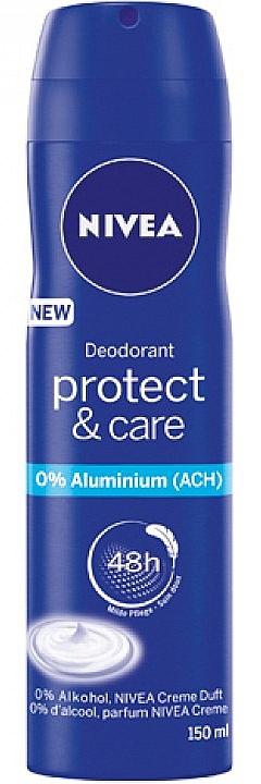 Spray desodorante 48hs protección sin alcohol - Nivea Women Deospray Protect & Care