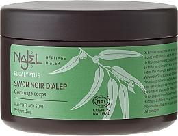 Perfumería y cosmética Jabón negro de barra con aceite de eucalipto - Najel Black Aleppo Soap Eucalyptus Body Peeling