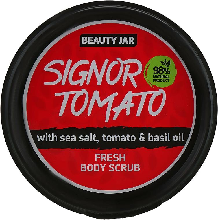 Exfoliante corporal refrescante con sal marina, tomate y aceite de albahaca - Beauty Jar Fresh Body Scrub