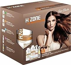 Perfumería y cosmética Set reparador para cabello - H.Zone (champú/500/ml + crema/500/ml + spray/250/ml + mascarilla/150/ml + toalla)