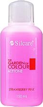 Perfumería y cosmética Removedor de esmalte gel, fresa - Silcare The Garden Of Colour Aceton Strawberry Pink