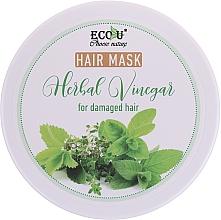 Perfumería y cosmética Mascarilla capilar reparadora con extracto de menta - Eco U Hair Mask Herbal Vinegar For Damaged Hair
