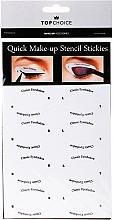 Perfumería y cosmética Plantillas para maquillaje de ojos, 36705 - Top Choice