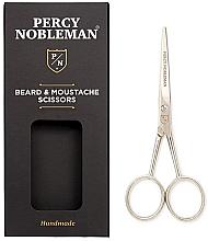 Perfumería y cosmética Tijeras artesanales para barba y bigote de acero al carbono duradero - Percy Nobleman Beard & Moustache Scissors
