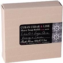 Perfumería y cosmética Bath House Cuban Cedar & Lime - Jabón de afeitar con cedro & lima (recarga)