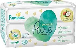 Perfumería y cosmética Toallitas húmedas para bebés sin alcohol con aceite de coco - Pampers Pure Coconut