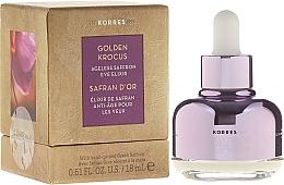 Perfumería y cosmética Elixir contorno de ojos con extracto de azafrán griego fresco - Korres Golden Krocus Ageless Eye Elixir