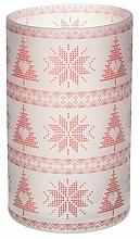 Perfumería y cosmética Portavelas de cristal - Yankee Candle Red Nordic Frosted Glass Jar Sleeve