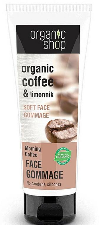 Exfoliante facial suave orgánico con extracto de café verde y limoncillo - Organic Shop Gommage Face