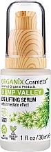 Perfumería y cosmética Sérum para contorno de ojos con aceite de semilla de cáñamo y ácido hialurónico, efecto lifting - Organix Cosmetix Hemp Valley Eye Lifting Serum