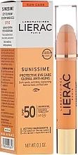 Perfumería y cosmética Tratamiento protector ojos y zonas sensibles con ácido hialurónico - Lierac Sunissime Protective Eye Care Anti-Age Global SPF50
