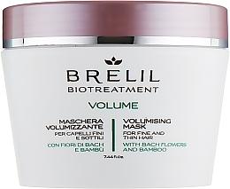 Perfumería y cosmética Mascarilla facial con extracto de flor de Bach y bambú - Brelil Bio Treatment Volume Hair Mask