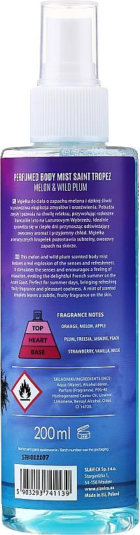 Shake for Body Perfumed Body Mist Saint Tropez Melon & Wild Plum - Bruma corporal con aroma a melón y ciruela — imagen N2