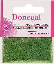 Perfumería y cosmética Donegal - Purpurina para uñas, verde