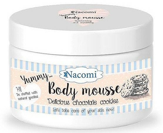 Mousse corporal con karité y aceite de argán, aroma a galletas - Nacomi Body Mousse