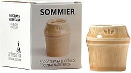 Perfumería y cosmética Soporte para cepillo dental de porcelana, beige - NaturBrush Sommier Toothbrush Holder