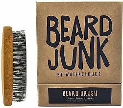 Perfumería y cosmética Cepillo de barba artesanal con cerdas naturales de jabalí - Waterclouds Beard Junk Beard Boar Bristle Brush