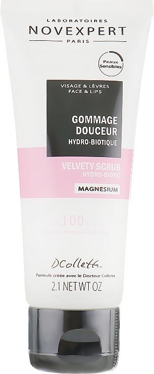 Exfoliante para rostro y labios con magnesio, aceite de coco y extracto de bambú, vegano - Novexpert Magnesium Velvety Scrub Hydro-Biotic