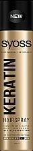 Perfumería y cosmética Laca profesional para cabello con queratina, fijación extra fuerte - Syoss Keratin