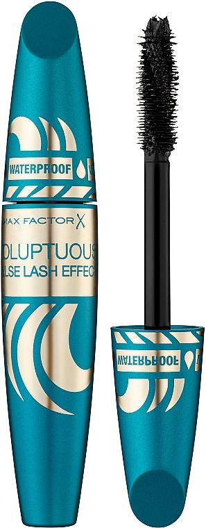 Máscara de pestañas resistente al agua para volumen, efecto pestañas postizas - Max Factor Voluptuous False Lash Effect Mascara Waterproof