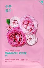 Perfumería y cosmética Mascarilla facial hidratante de tejido con extracto de rosa damascena - Holika Holika Pure Essence Mask Sheet Damask Rose