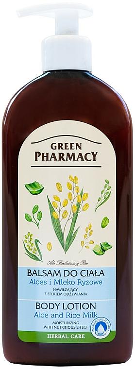 Loción corporal con aloe y leche de arroz - Green Pharmacy