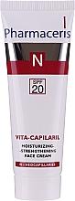 Perfumería y cosmética Crema facial hidratante y fortalecedora para pieles con cuperosis - Pharmaceris N Vita Capilaril Moisturizing-Strengthening Face Cream SPF20
