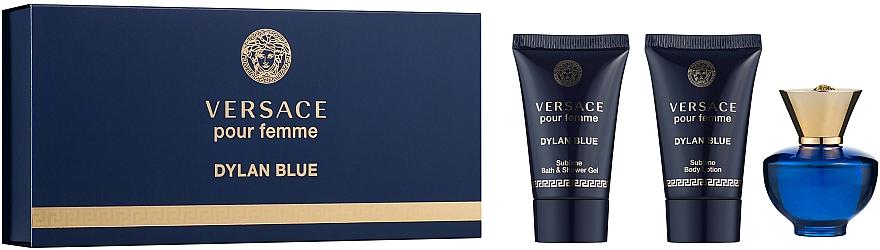 Versace Pour Femme Dylan Blue - Set (eau de parfum/mini/5ml + loción corporal/25ml + gel de ducha/25ml)