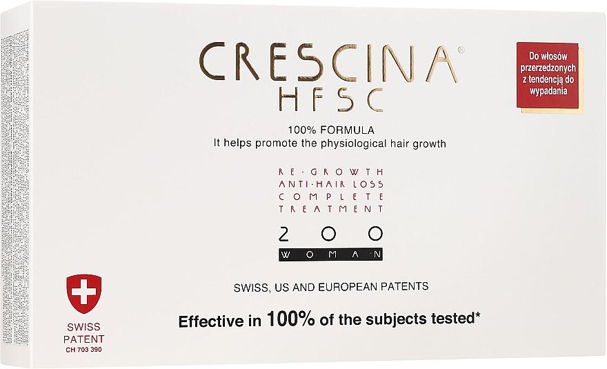 Tratamiento en ampollas estimulador del crecimiento de cabello 200 - Crescina Re-Growth HFSC Formula 100%