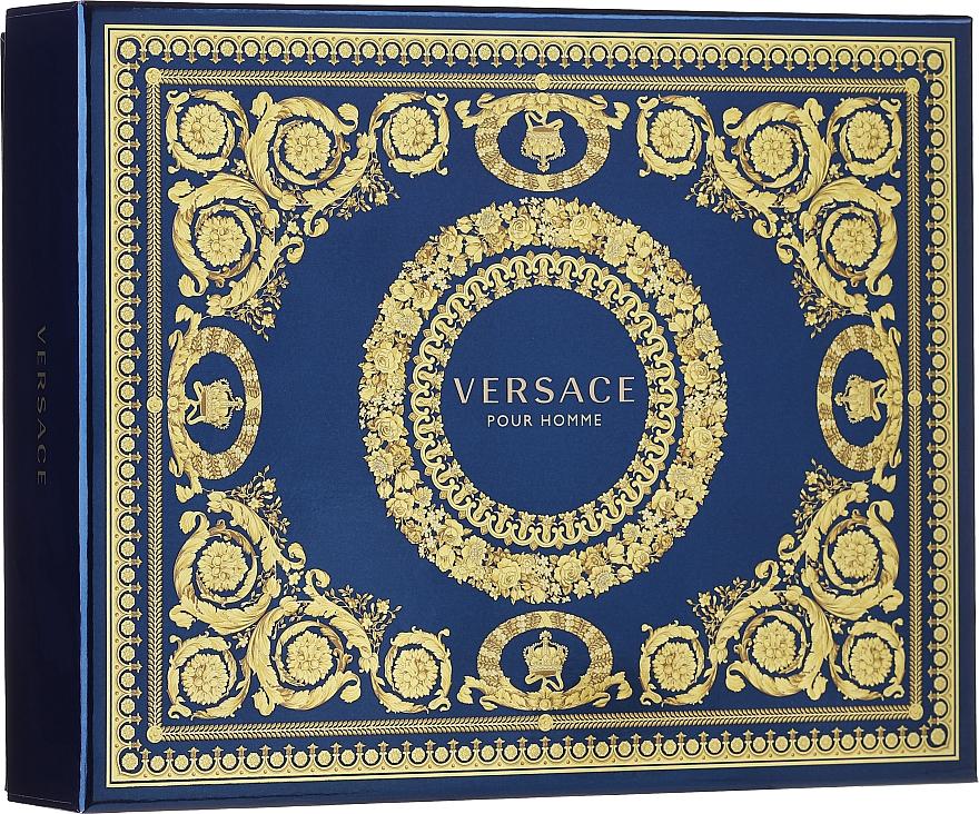 Versace Pour Homme - Set (eau de toilette/50ml + champú para cabello y cuerpo/50ml + bálsamo aftershave/50ml)