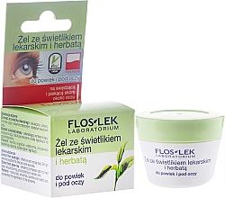 Perfumería y cosmética Gel para párpados y ojos con eufrasia & té verde - Floslek Lid And Under Eye Gel With Eyebright And Green Tea