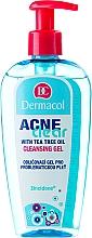 Perfumería y cosmética Gel limpiador facial con aceite de árbol de té - Dermacol Acne Clear Make-Up Removal & Cleansing Gel
