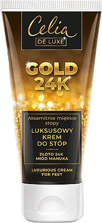 Crema de pies con oro de 24K y miel de manuka - Celia De Luxe Gold 24K Luxurious Foot Cream