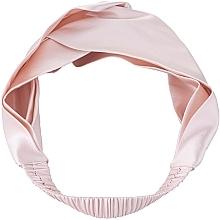 Perfumería y cosmética Cinta de pelo de seda natural, color polvo rosa - Makeup Hairband Twist Powder