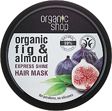 Perfumería y cosmética Mascarilla capilar natural con extracto de higo orgánico y aceite de almendras - Organic Shop Organic Fig Tree and Almond Hair Mask