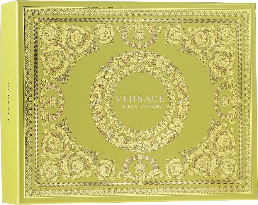 Versace Yellow Diamond - Set (eau de toilette/50ml + loción corporal/50ml + gel de ducha/50ml)