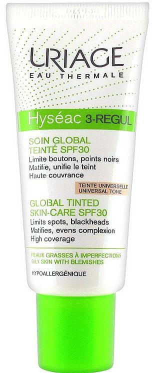 Crema facial tonificante - Uriage Hyseac 3-Regul Global Tinted Skin-Care SPF 30 — imagen N1