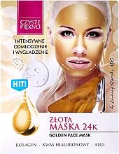 Perfumería y cosmética Mascarilla facial de oro con colágeno, ácido hialurónico y algas - Czyste Piekno Gold Face Mask
