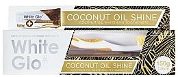 Perfumería y cosmética White Glo Coconut Oil Shine - Set de blanqueamiento dental (pasta dental con aceite de coco/120ml + cepillo dental/1ud.)