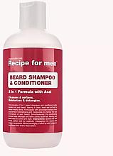 Perfumería y cosmética Champú y acondicionador de barba 2en1 con extracto de bayas de acai - Recipe for Men Beard Shampoo & Conditioner
