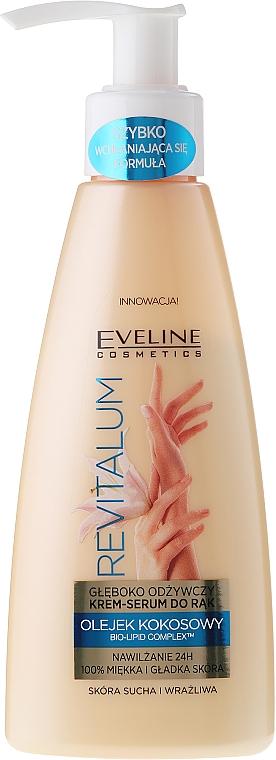 Crema serúm de manos con aceite de coco, pieles secas - Eveline Cosmetics Revitalum