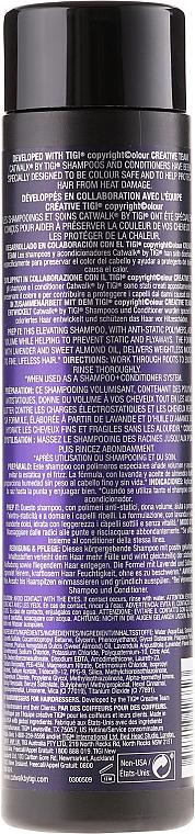 Champú con aceite de salvia y ácido salicílico - Tigi Catwalk Your Highness Elevating Shampoo — imagen N2