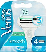 Perfumería y cosmética Recambios de cuchillas, pieles sensibles, 4uds. - Gillette Venus Smooth Sensitive
