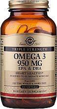 Perfumería y cosmética Complemento alimenticio en cápsulas triple Omega-3, EPA, DHA, 950 mg - Solgar Triple Strength 950 Mg