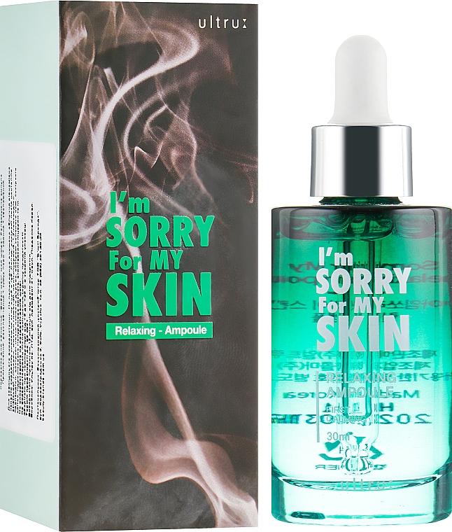 Sérum facial relajante con ácido hialurónico hidrolizado, extractos de centella asiática y árbol de té - Ultru I'm Sorry For My Skin Relaxing Ampoule