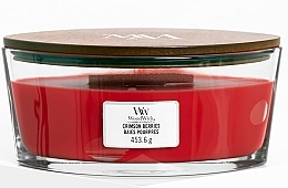 Perfumería y cosmética Vela aromática, bayas carmesí - WoodWick Ellipse Scented Candle Crimson Berries
