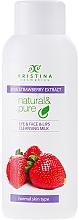 Perfumería y cosmética Leche facial desmaquillante con extracto de fresa - Hristina Cosmetics Cleansing Milk With Strawberry Extract